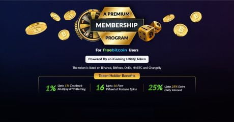 FreeBitco.in Announces FUN Backed Premium Membership Program, Makes Token Available for Purchase on the Platform