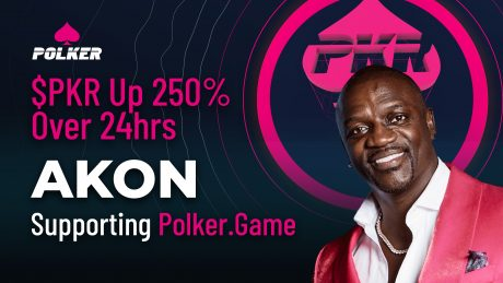 $PKR Up 250% Over 24hrs As Akon Shouts Out Polker.Game